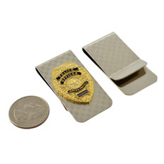 Police Officer Mini Badge Money Clip