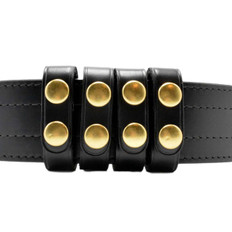 "Perfect Fit Duty Belt Keepers 3/4"" Plain Genuine Leather brass snaps"