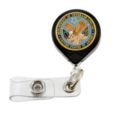 Veterans Affairs Logo Retractable Badge Reel ID Holder