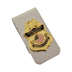 Federal Officer Mini Badge Money Clip Cash Holder