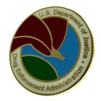 DEA Drug Enforcement Administration Logo Lapel Pin