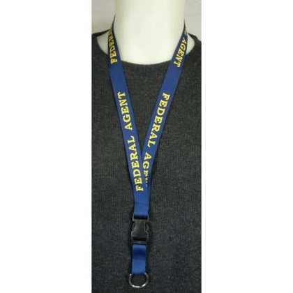 Federal Agent Police Key Ring Woven Lanyard