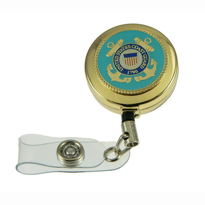 US Coast Guard Military Retractable ID Holder Badge Reel