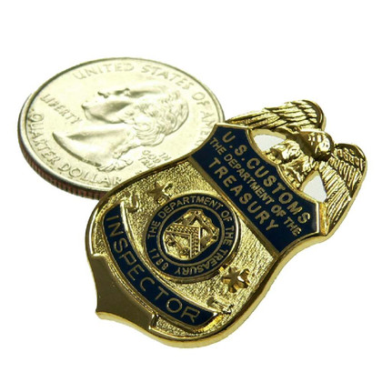 Legacy US U S Customs Inspector Mini Badge Pin
