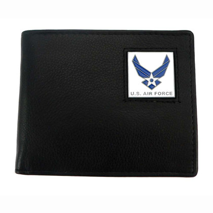 US Air Force Bifold Leather Wallet with Emblem