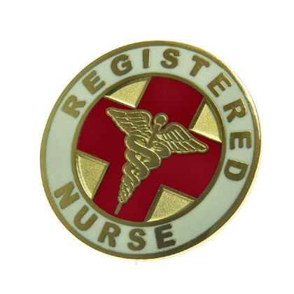 Registered Nurse Round Lapel Pin