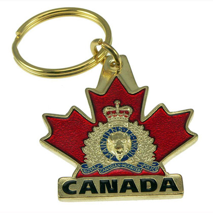 Royal Canadian Mounted Police Rcmp Crest Maple Leaf Key