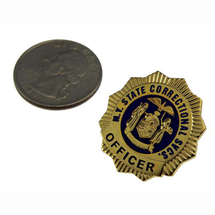 NY Department of Corrections DOCCS Mini Badge Lapel Pin