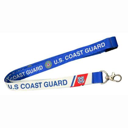 U.S. Coast Guard Reversible Neck Lanyard Military ID Holder