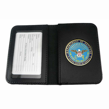 Dod Department Of Defense Leather Single Id Card Holder