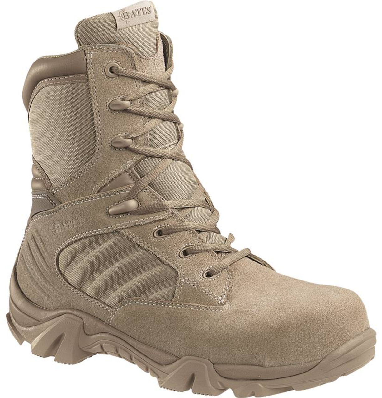 ... Bates E02276 GX-8 Desert Composite Toe Side Zip Boots