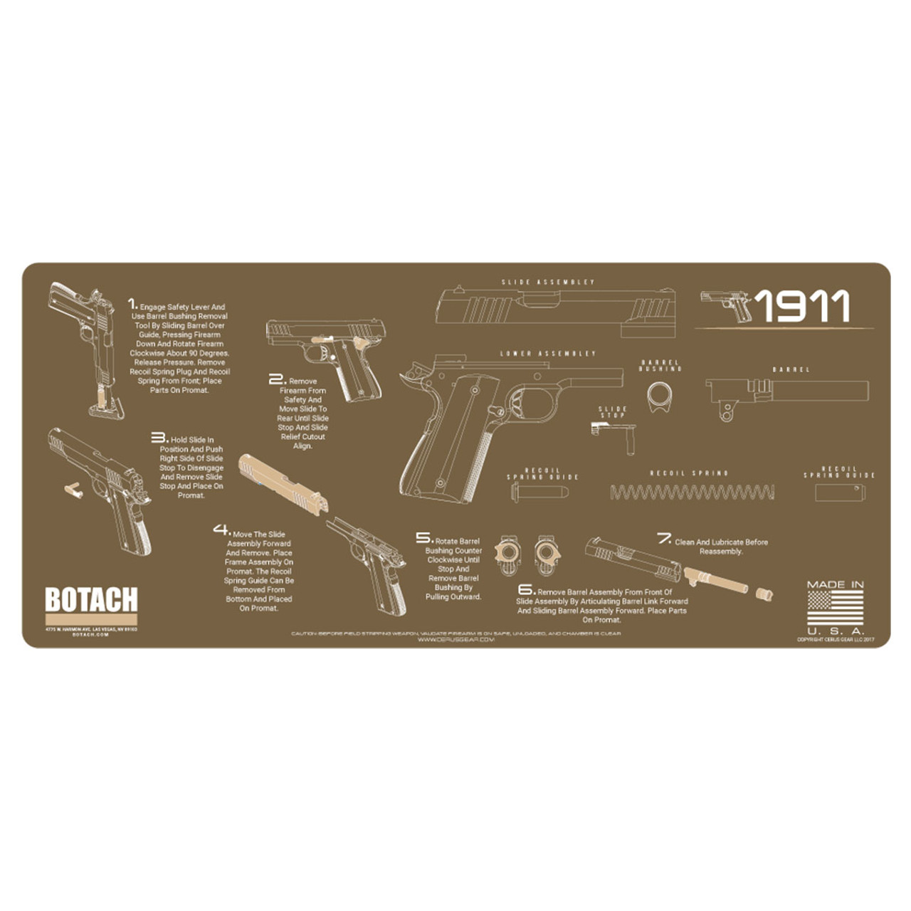 Botach Gun Cleaning Mats Free Shipping No Sales Tax Colt 1911 Parts Schematic Quotes