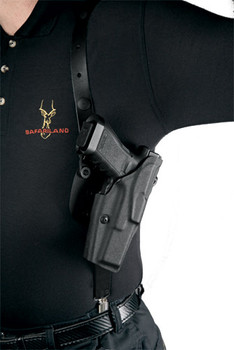 Safariland 1051 ALS Shoulder Holster System for Sig Sauer P220R/P226R DAK/DASA - Right Hand - Black - Plain