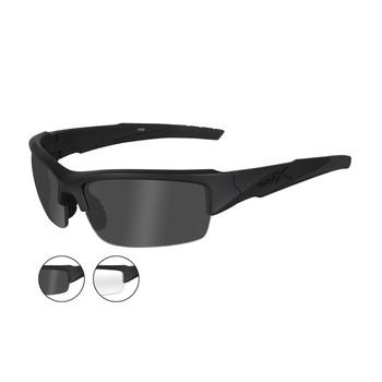 Wiley X CHVAL07 Valor Smoke Grey/Clear Lenses Matte Blk Frame Ballistic Sunglasses