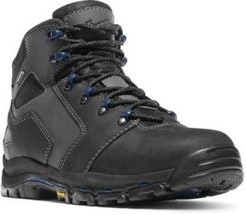 """Danner 13864 Men's Vicious 4.5"""" Black/Blue NMT Boots"""