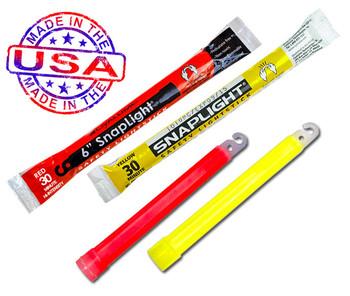 "Cyalume / Snaplight 30 Minutes 6"" Lightsticks 100/Pack - Red & Yellow MIX"