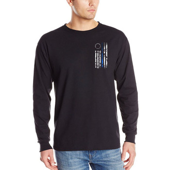 Thin Blue Line 1776 Long Sleeve Black T-Shirts