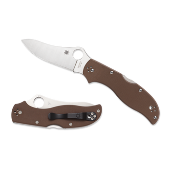Spyderco Stretch 2 G-10 Lightweight Folding Knives Brown