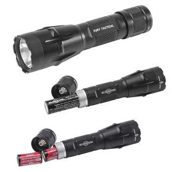 Surefire Fury DFT Dual Fuel Tactical LED Flashlight 1500 Lumens w/FREE Surefire Hat