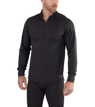 Carhartt Men's Base Force Extremes Cold Weather Black Quarter Zip - Use Coupon Code: CARHARTT for Special Savings