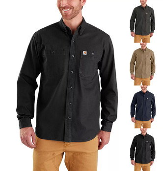 Carhartt Men's Rugged Flex Rigby Long Sleeve Work Shirts - Use Coupon Code: CARHARTT for Special Savings