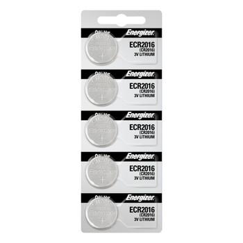 Energizer CR2016 Lithium 3v Batteries 5/Pack