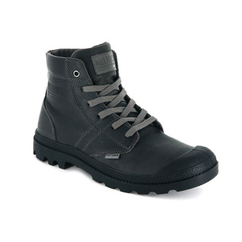 Palladium Men's Pallabrouse Leather Cloudburst/Black Boots
