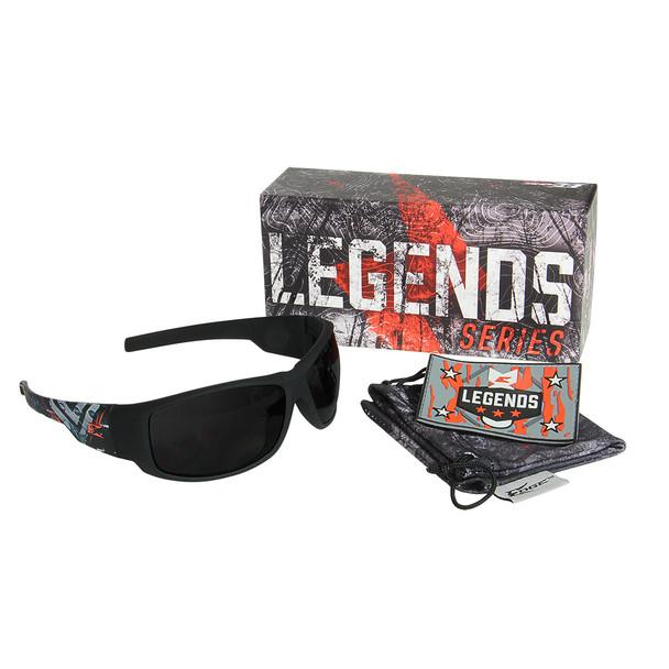 Legends Boneyard – Soft-Touch Black & Gray Frame / Smoke Vapor Shield Lens