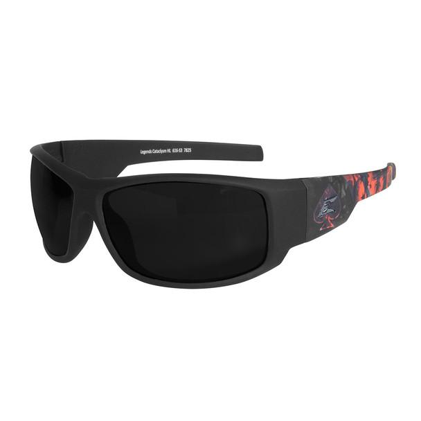Legends Cataclysm – Soft-Touch Black & Red Frame / Smoke Vapor Shield Lens