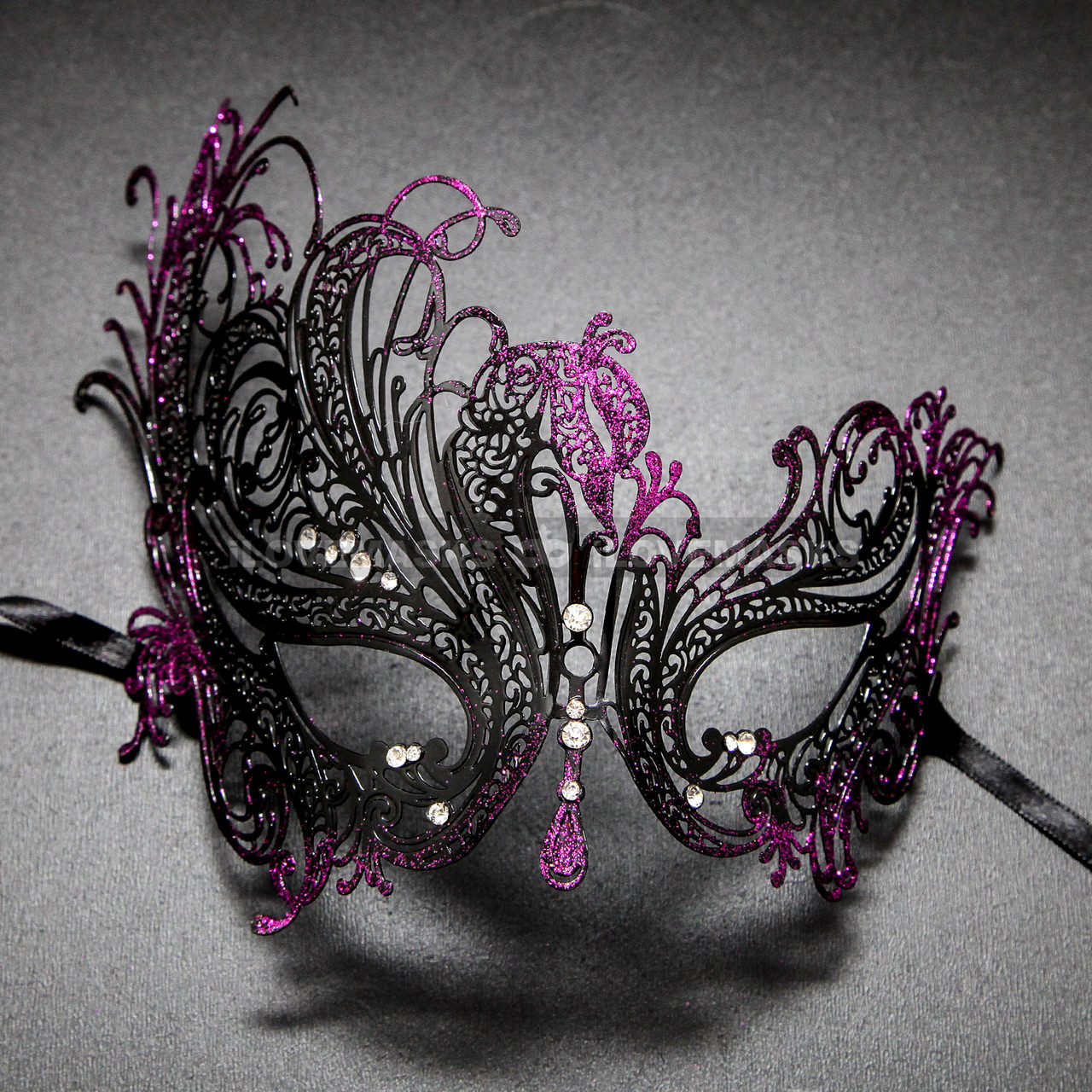 venetian swan party masquerade mask with rhinestones and bling