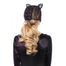 Lace cat mask - Black - Image 2