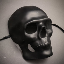 Skull Halloween Masquerade Full Face Mask - Black
