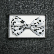 Bow Tie - Black Music Sign / White