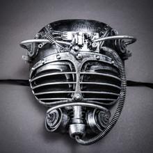 Steampunk Burning Man Gas Mask - Black Silver