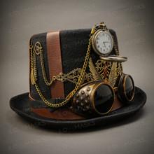 Steampunk Burning Man Top Hat - Black ( Right )