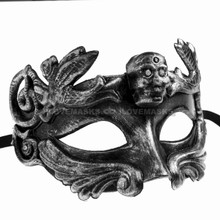 Halloween Skull Eye Mask - Black - 2