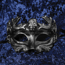 Halloween Skull Eye Mask - Black