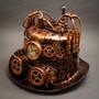 Steampunk Mad Scientist Time Traveler Top Hat - Antique Copper