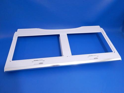 Samsung 4 Door Refrigerator RF22K9581SG Crisper Cover Frame DA97-15360A