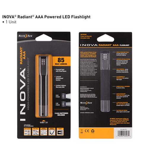 Nite-Ize INOVA Radiant AAA Powered LED Flashlight NIR1A-M1-R7 ...