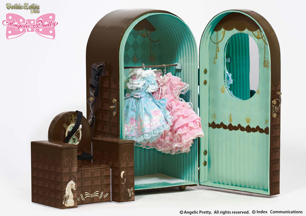 Doll Case: Angelic Pretty Chess Chocolate Mint