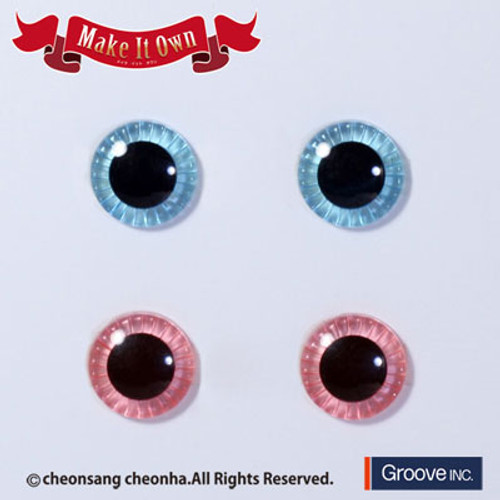 Eyechip: Aqua Blue & Light Pink