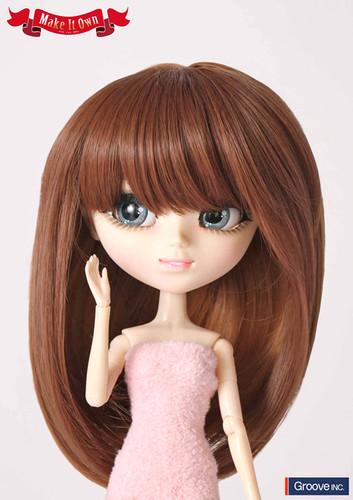 Wig:Brown Straight Hair