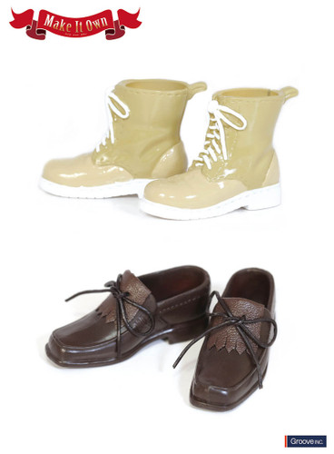 Shoes:Tassel shoes (Brown) x Short Boots (Beige)*