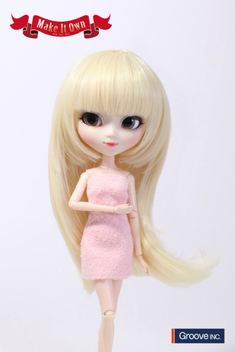 Wig:Semi-Long Hair (Platinum Gold)