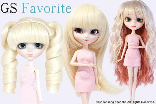 GS favorite:Blonde hair set(006,002,010)