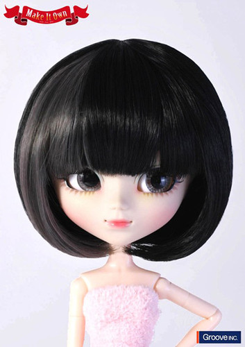 Wig:Bob (Black and Grey wide Mesh)