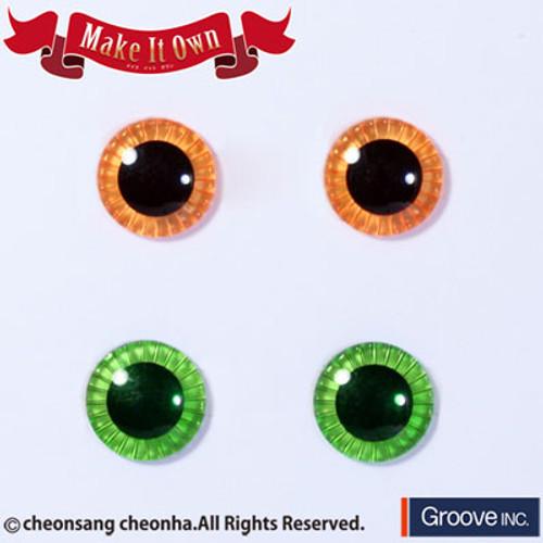 Eyechip: Apricot & Light Green
