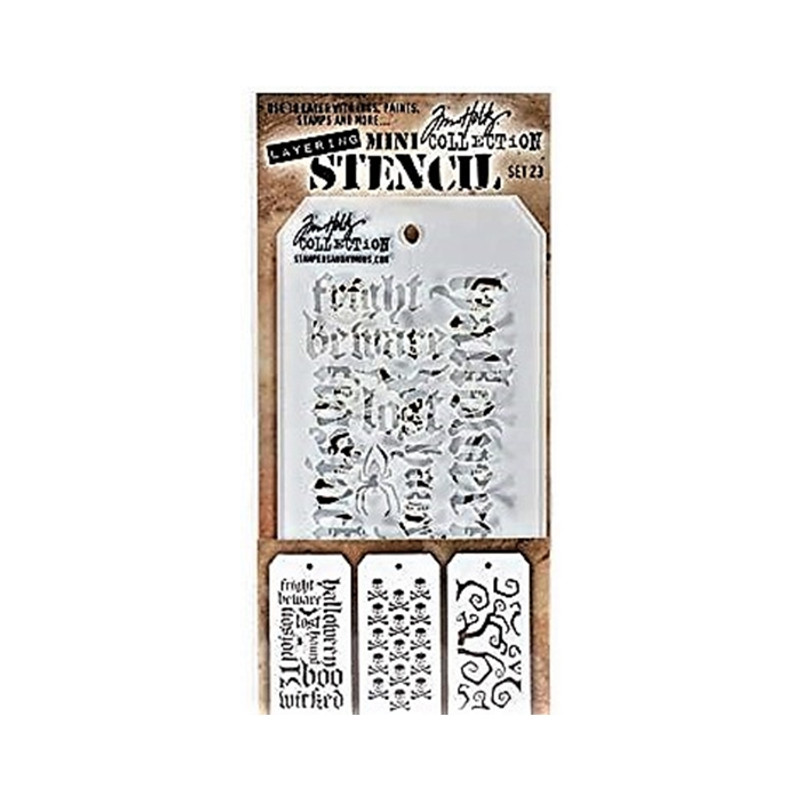 Tim Holtz Mini Stencil set 23