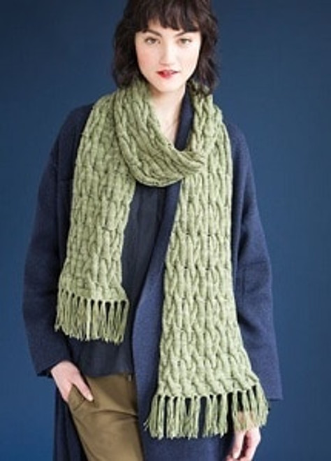Open Cable Scarf (Early Fall 2016)